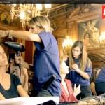Elia Galera, la presentadora de la gala en maquillaje