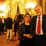 Pilar Muñoz con Luis Fernández, colaborador de Aulas Abiertas