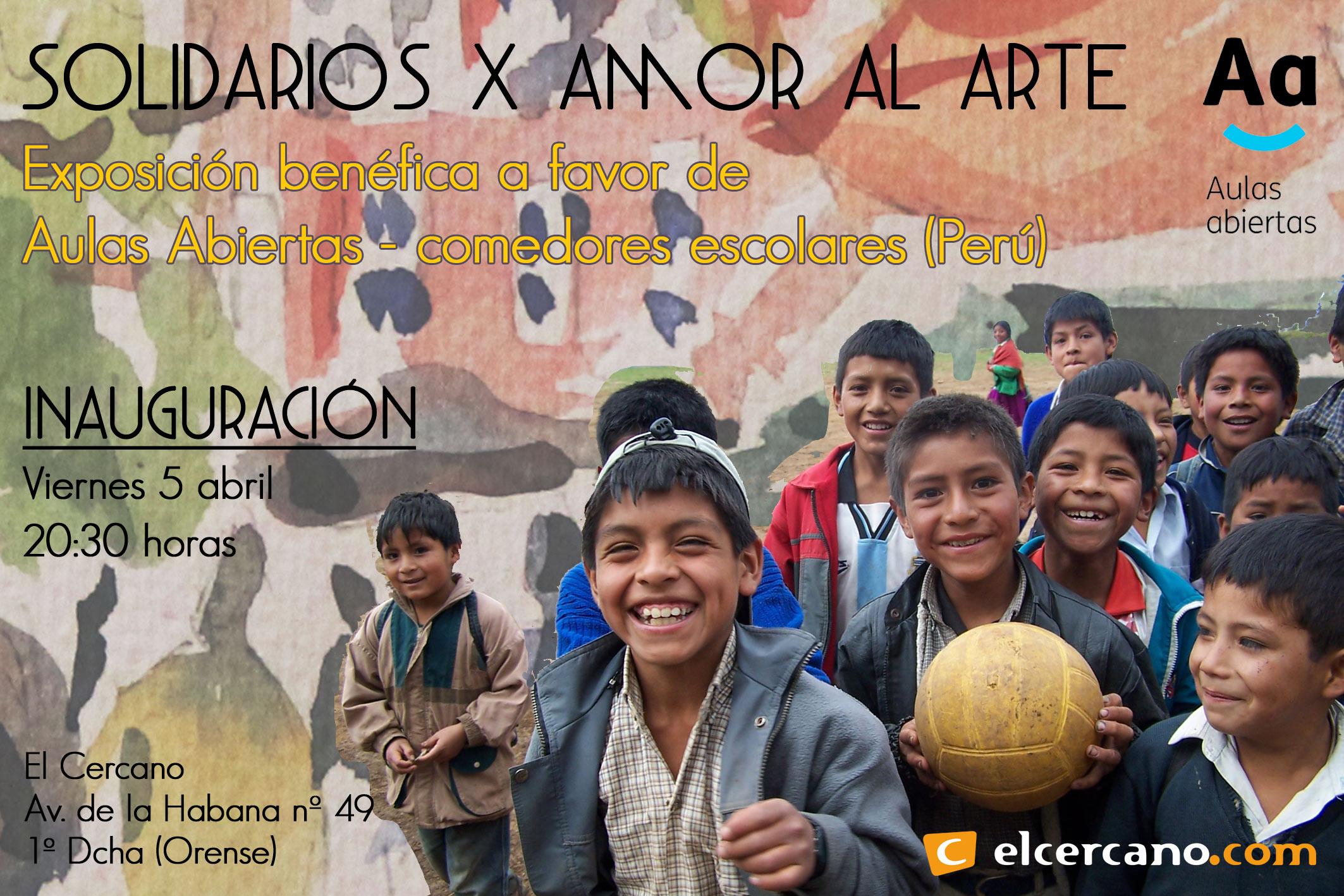 Exposicion benefica El Cercano - Aulas Abiertas