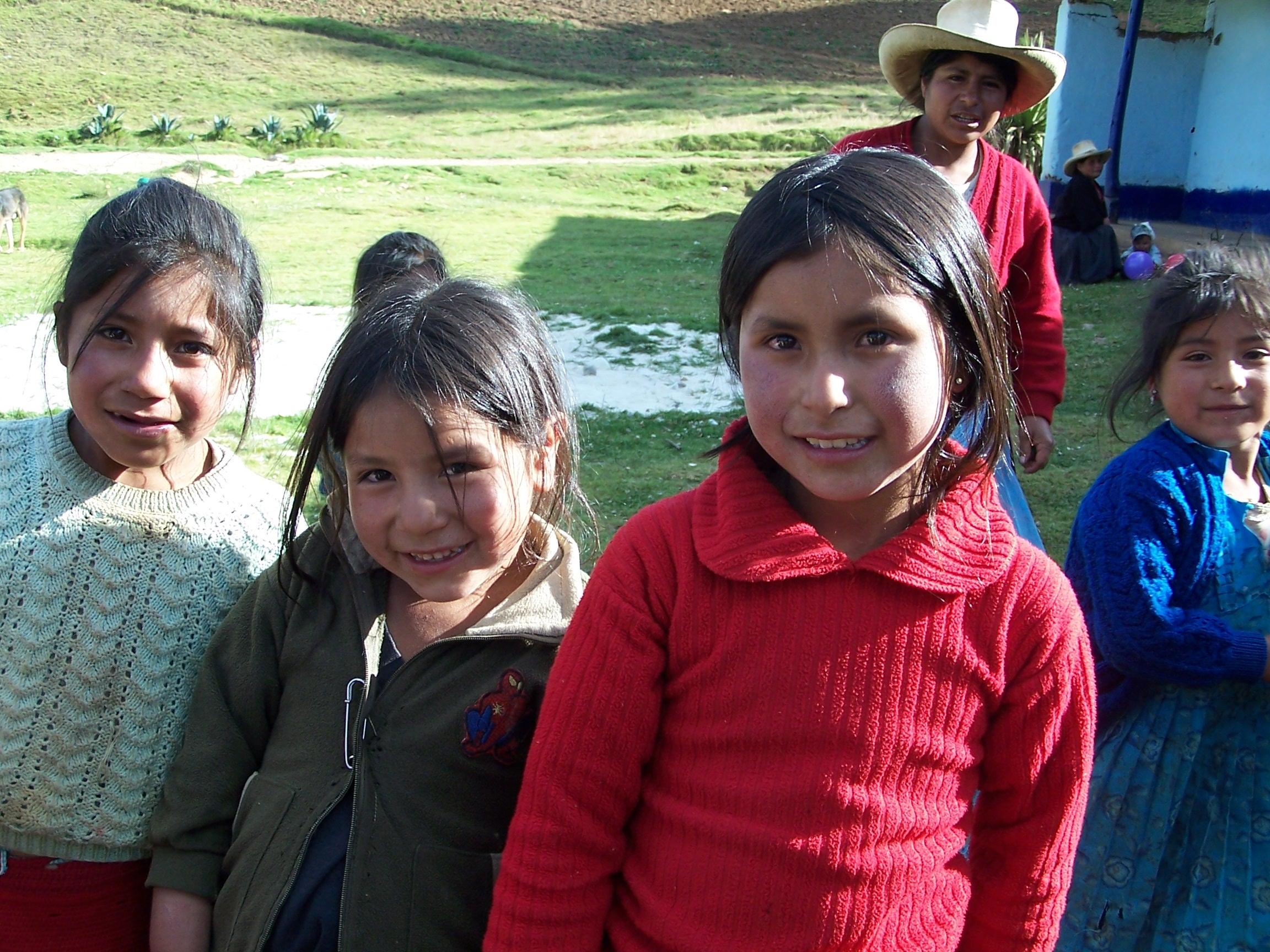 Niñas peruanas