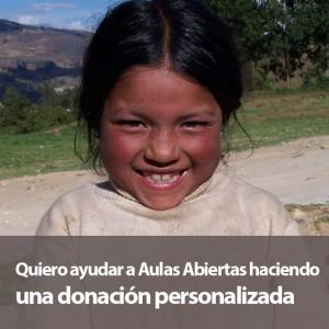 Donación personalizada Aulas Abiertas