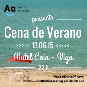 Cena verano Aulas Abiertas 2015